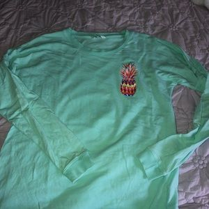 Crown & Ivey mint pineapple shirt